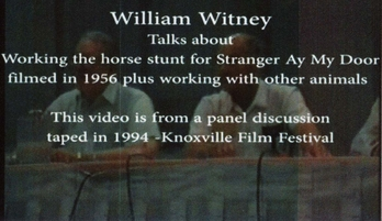 stranger at my door, william witney, knoxville film festival